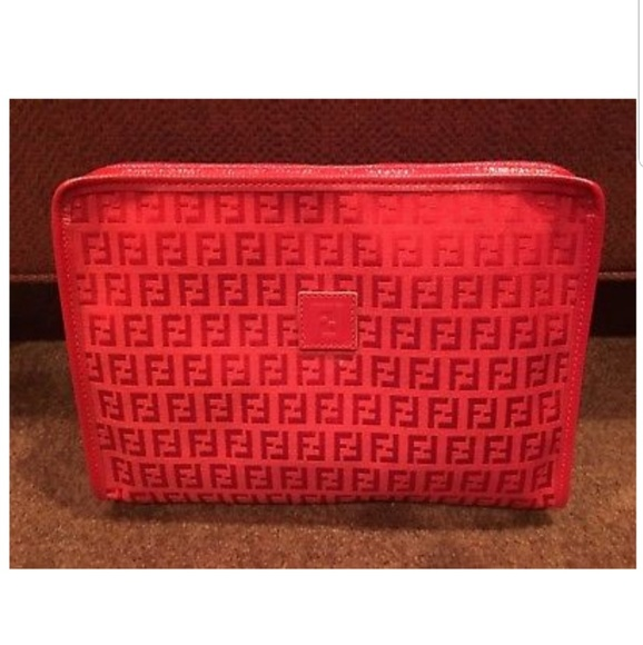 f6ad1f584ca Fendi Bags | Authentic Vintage Red Clutch | Poshmark